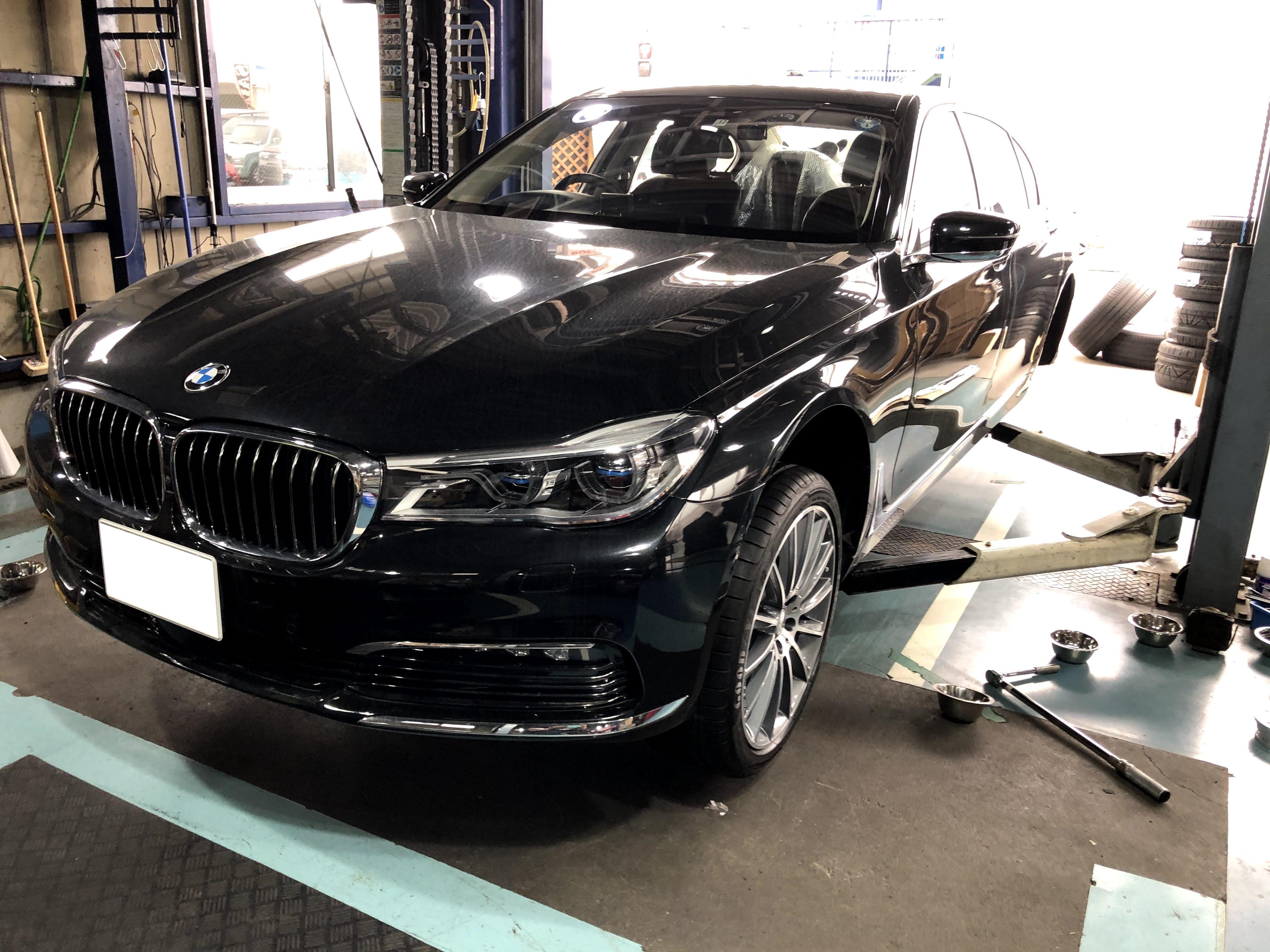 BMW 7シリーズ 持ち込み タイヤ交換