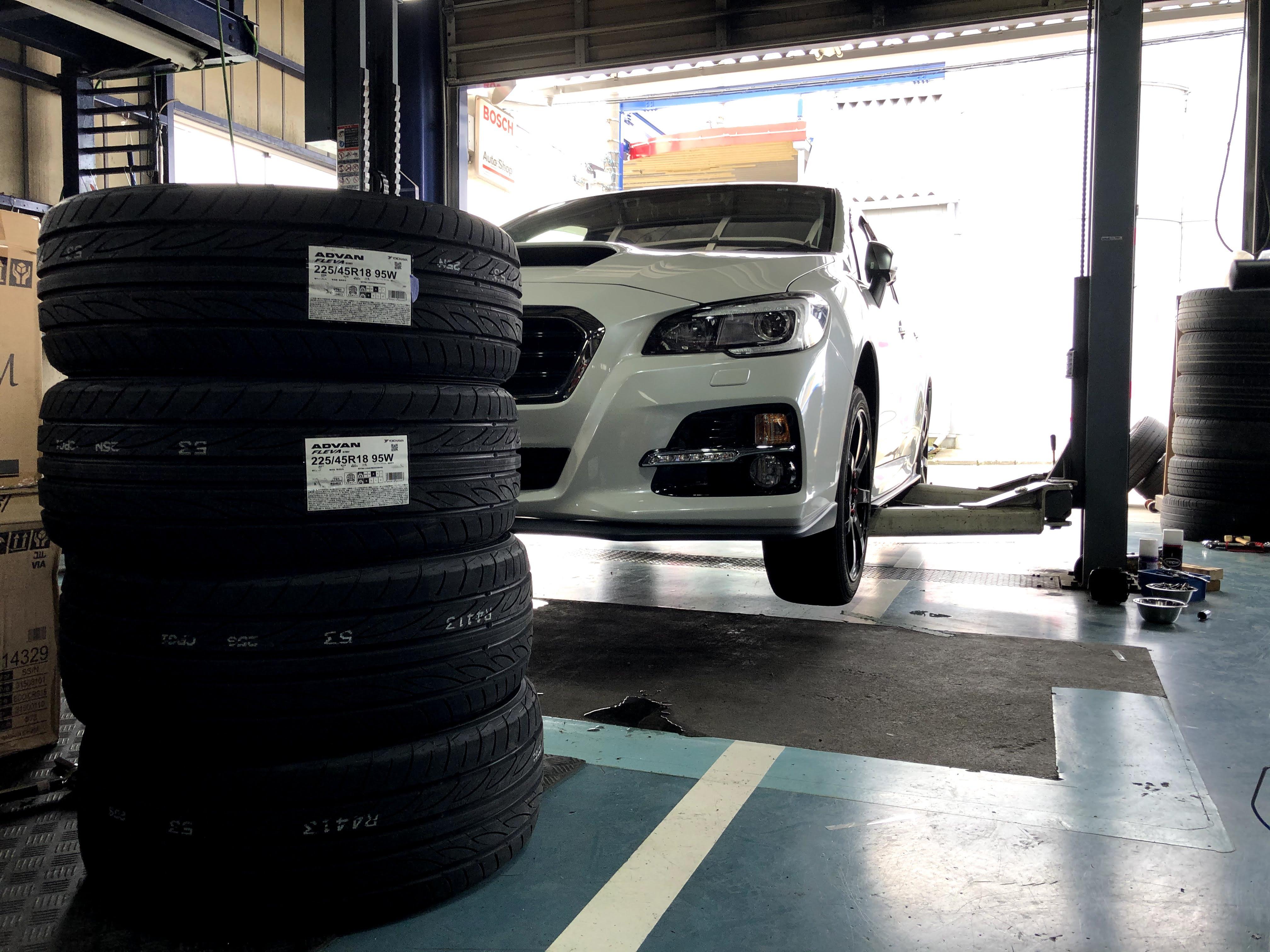 スバル レヴォーグ 持ち込み タイヤ交換