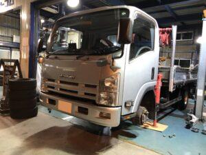 持ち込みタイヤ交換 トラック ダンプ ローダー