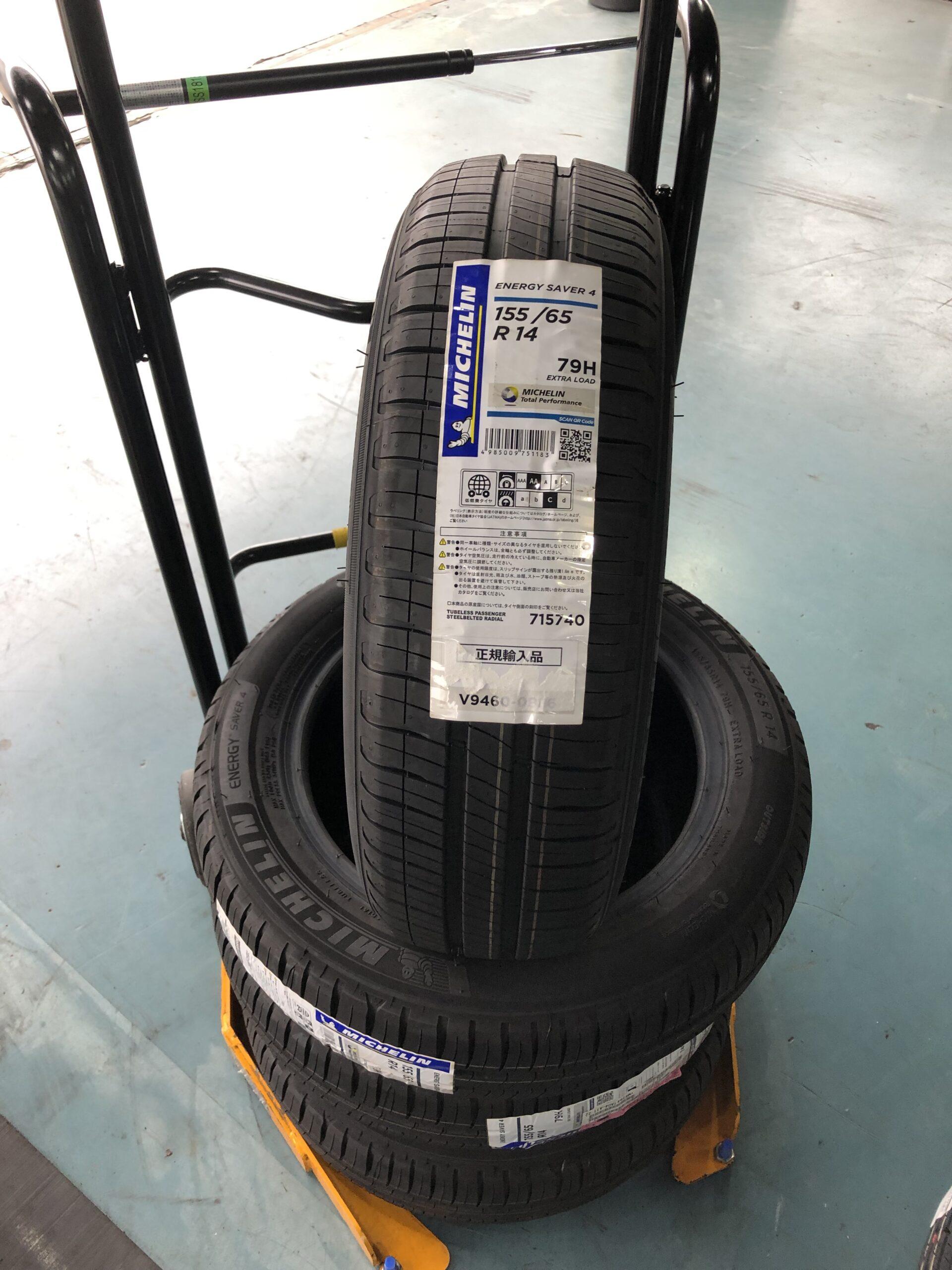 ミラジーノ タイヤ交換